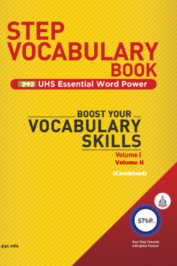 STEP MDCAT Vocabulary Book in PDF