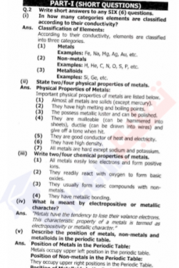 9th Chemistry Chapter-8 (Chemical Reactivity) PDF Notes