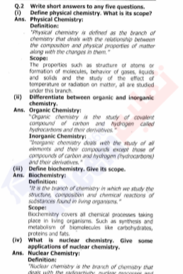 9th Chemistry Chapter-1 (Fundamentals of Chemistry) PDF Notes