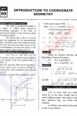 9th Mathematics Chapter-9 (Introduction to Coordinate Geometry) PDF Notes
