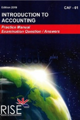 Rise CAF 1 Book Intro to Accounting PDF | CA Helping Books